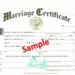 certified copy of your marriage license