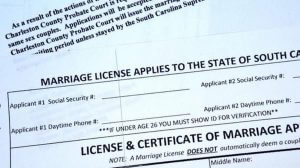 florence county marriage application